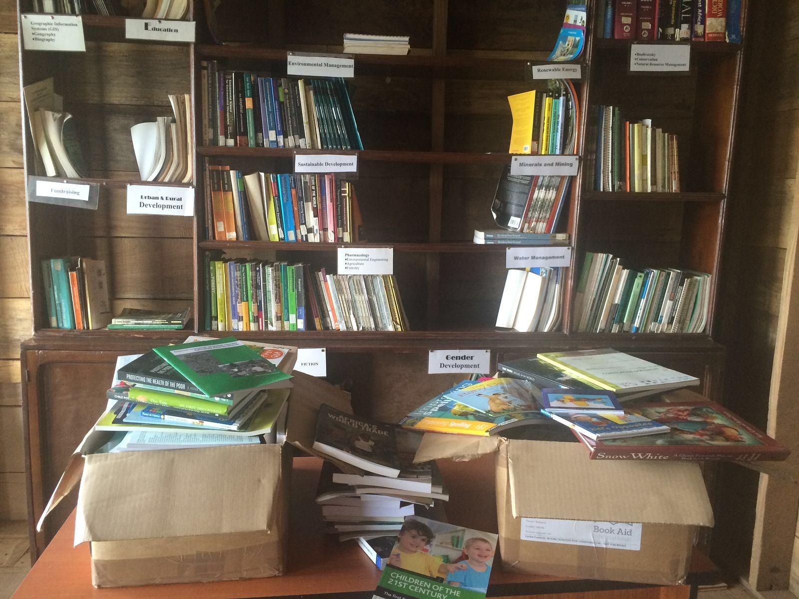 Books donated from SL Library Board_EFA